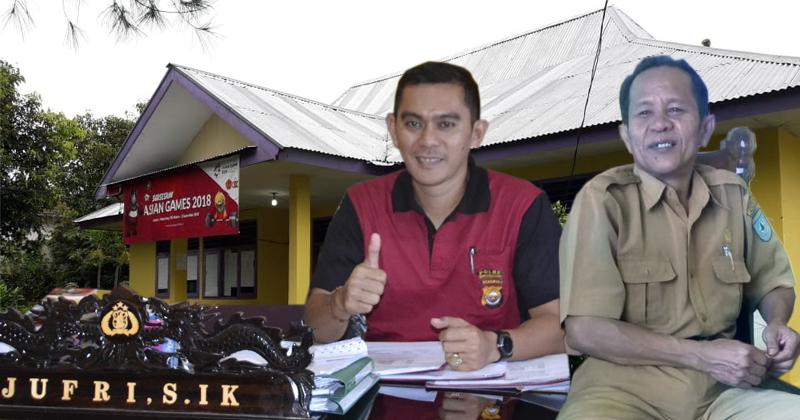 Lurah Gunung Alam yang juga Sekretaris Panwascam Arga Makmur Syaiful, mangkir