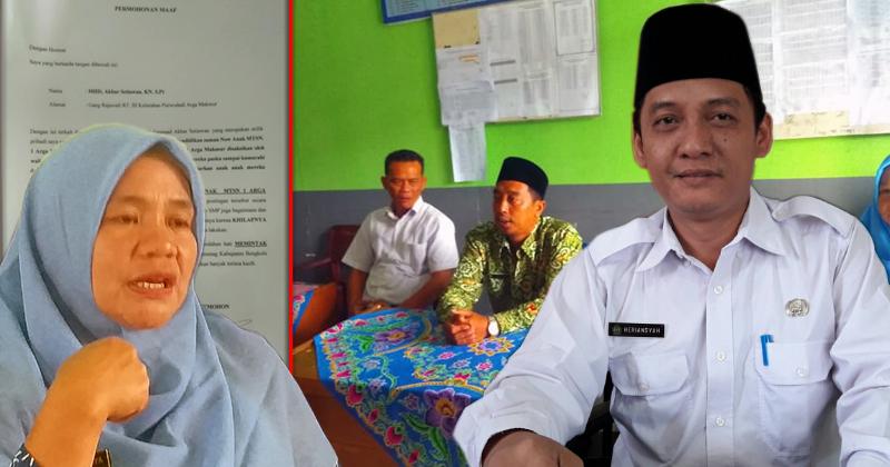 Kementrian agama sikapi oknum Ketua Panwascam Arga Makmur yang juga ASN lecehkan MTSn Arga Makmur
