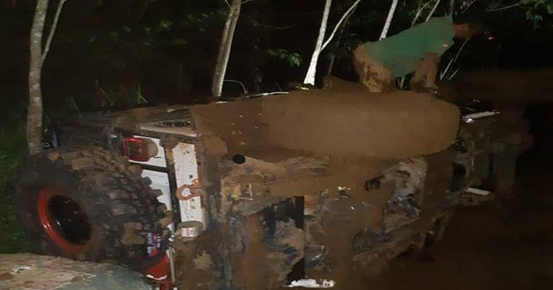 Peserta JABU Offroad Dinas Pariwisata Bengkulu Utara terjebak di lokasi