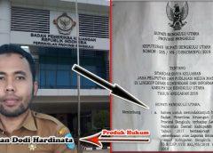BPK RI, Sebut Tidak Tahu Soal SK Bupati Diskominfo Bengkulu Utara