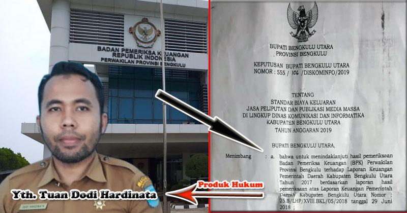SK Bupati Diskominfo Bengkulu Utara