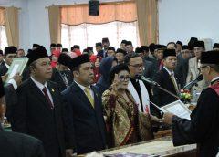 Ketua dan Wakil Ketua DPRD BU Periode 2019-2024 Resmi Dilantik